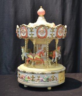 "Porcelain Musical Carousel - 12"" X 20"""