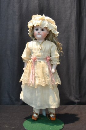 Bisque Slightly Turned Shoulder Head Doll