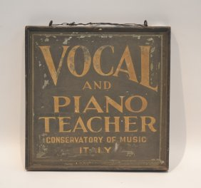 Vintage Double Sided Vocal & Piano Teacher