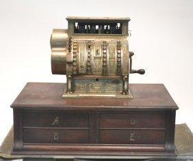 National Cash Register On 4-drawer Base