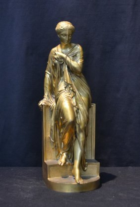 Neo Classical Dore Bronze Woman Signed