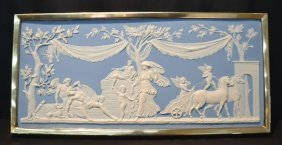 Very Large Wedgwood Jasperware Plaque Depicting