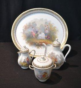 French Tete A Tete Tea Service Consisting