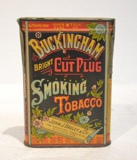John J. Bagley Buckingham Smoking Tobacco Tin