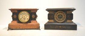Ansonia Metal Mantle Clock & Seth Thomas