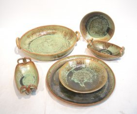 (6) Ar Cole , North Carolina Pottery Bowls