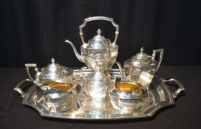Large Reed & Barton Sterling Silver Tea Set