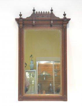 "Victorian Eastlake Mirror - 25"" X 43"""