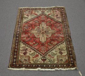"3' 5"" X 4' 8"" Persian Wool Rug - Marked Iran"