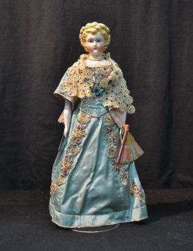 Parian Shoulder Head Doll With Pierced Ears,