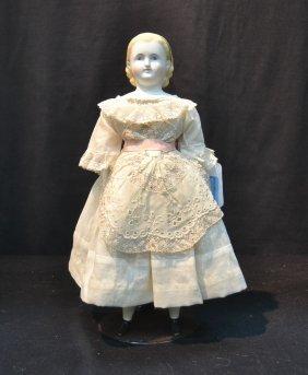 Bisque Shoulder Head Doll With Bisque
