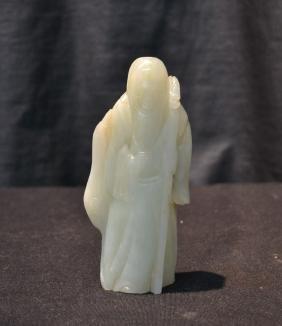 Antique Carved Jade Figure Of Longevity