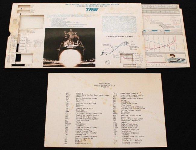 Apollo 12 TRW Mission Information Display : Lot 226