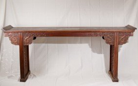 A Rare Large HuangHuaLi Altar Table