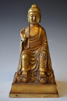 A Bronze Seated Buddha