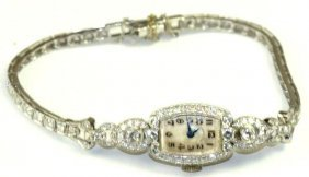 Art Deco Hamilton Platinum Ladies Wrist Watch