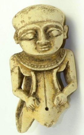 Ancient Egyptian White Fiance Pendant (fragment) 600 Bc