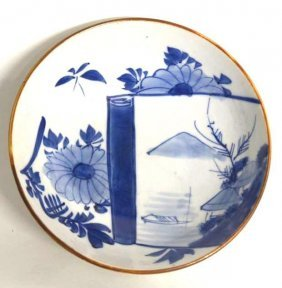 Antique Japanese Blue & White Plate