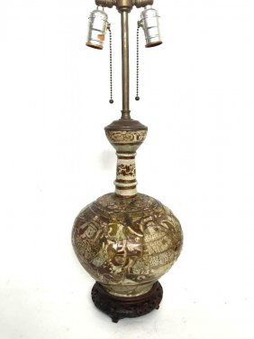 Antique Islamic Kashan Luster Glaze Pottery Vase