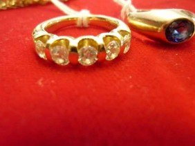 Diamond Ring, 14 KY, Five Stones,  SI-1 Clarit