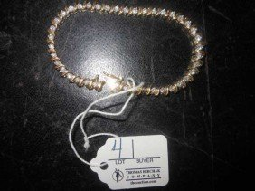 Diamond Tennis Bracelet, Tests 14 KY Gold, 41 Diamon