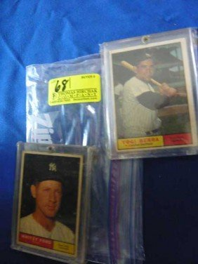 (2) Baseball Cards:  1961 Yoga Berra, 425