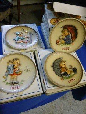 (7) Goebel Annual Plates, 1979, 1980, 1981, 1982,