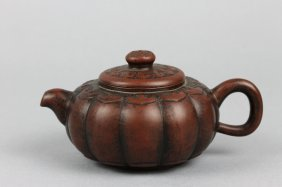 Chinese Antique Yixing Signed Teapot