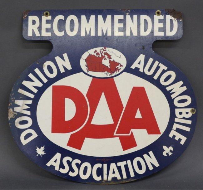 dominion automobile association sign lot 362. Black Bedroom Furniture Sets. Home Design Ideas