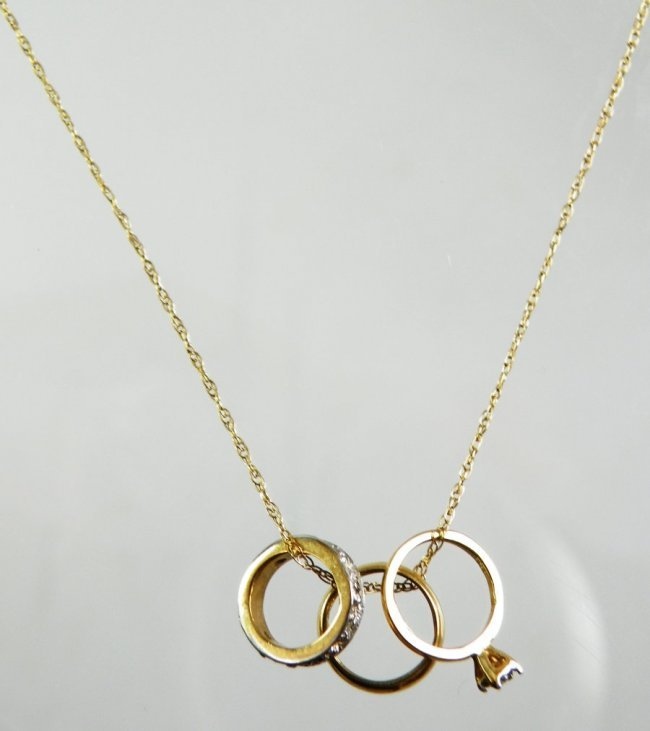 Wedding Ring On A Necklace