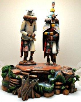 Hopi Global Warming Cottonwood Kachina - Sterling