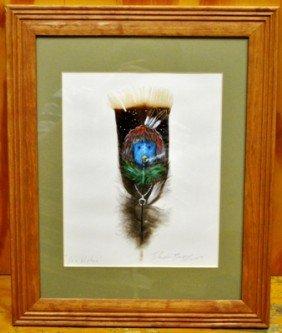 Navajo Talking God Kachina Feather Painting - Ye'i