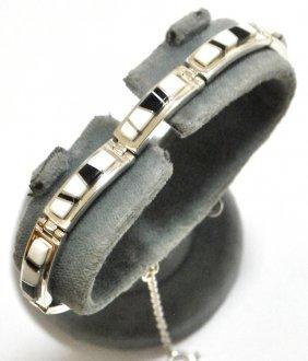Navajo Magnesite & Black Jade Inlay Sterling Silver