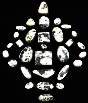 White Buffalo Stone Lot - 30 Stones - 350 Carat