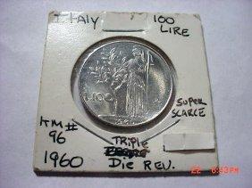1960 ITALY 100 LIRE ERROR COIN