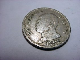 1908 HAITI 50 CENTIMES