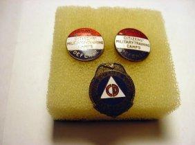 [3] WWII ENAMEL PINS