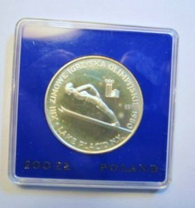 1980 POLAND OLYMPIC 200 ZL PROOF COIN