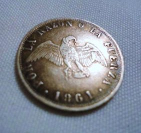 1861 CHILE 20 CENTAVOS