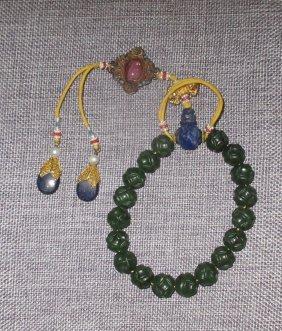 A Xinjiang Jade-beaded Bracelet