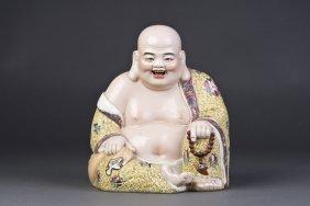 Chinese Famille Rose Porcelain Buddha