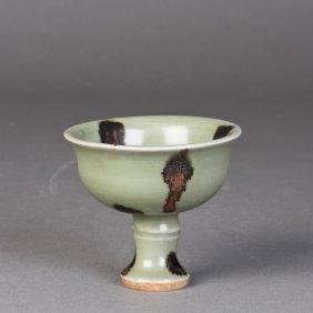 A Unique Celadon Goblet