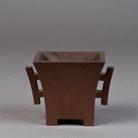 A Square Bronze Censer