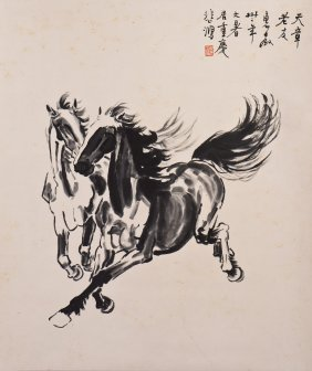 A Chinese Scroll Painting, After Xu Beihong