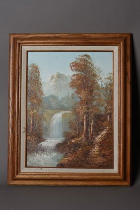 An Oil Painting Of Landscape
