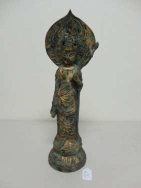Oriental Bronze Quan Yin Statue