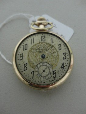 Antique Pocket Watch 14k Gold Plated