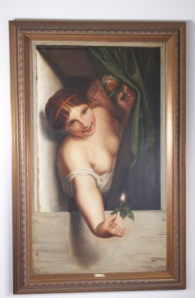 "Oscar Emmanuel Angenot (19th Century) Title ""rose Bud"","