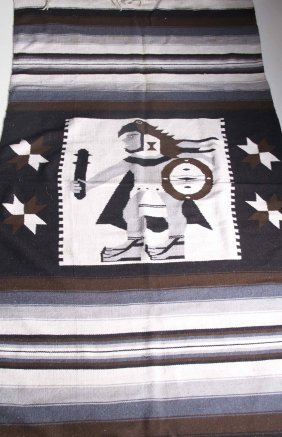 Vintage Native American Rug. Size: See Attached Ruler
