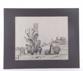 Paul Riba (1912-1977), Graphite On Paper. The Works Of